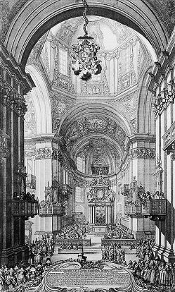 Die Innenansicht des Salzburger Domes (um 1675) von Croll,  Gerhard, Eder,  Petrus, Hahn,  Adolf, Hintermaier,  Ernst, Walteskirchen,  Gerhard