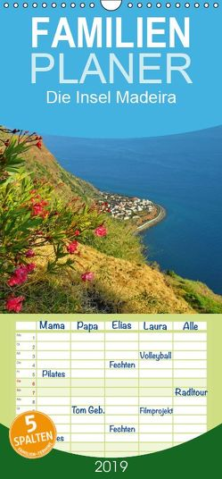 Die Insel Madeira – Familienplaner hoch (Wandkalender 2019 , 21 cm x 45 cm, hoch) von Janusz,  Fryc