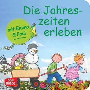 Die Jahreszeiten erleben mit Emma und Paul. Mini-Bilderbuch. von Bohnstedt,  Antje, Lehner,  Monika