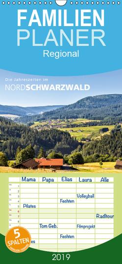 Die Jahreszeiten im Nordschwarzwald – Familienplaner hoch (Wandkalender 2019 , 21 cm x 45 cm, hoch) von Butschkus,  Heike