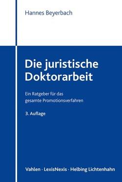 Die juristische Doktorarbeit von Beyerbach,  Hannes