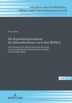 Die Kapitalschutzfunktion des Jahresabschlusses nach dem BilMoG von Schaub,  Peter