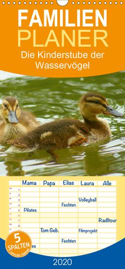 Die Kinderstube der Wasservögel – Familienplaner hoch (Wandkalender 2020 , 21 cm x 45 cm, hoch) von kattobello