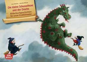 Die kleine Schusselhexe und der Drache. Kamishibai Bildkartenset. von Stohner,  Anu, Wilson,  Henrike