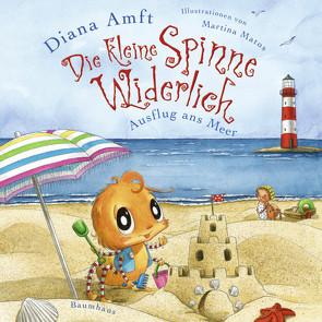 Die kleine Spinne Widerlich – Ausflug ans Meer (Mini-Ausgabe) von Amft,  Diana, Matos,  Martina