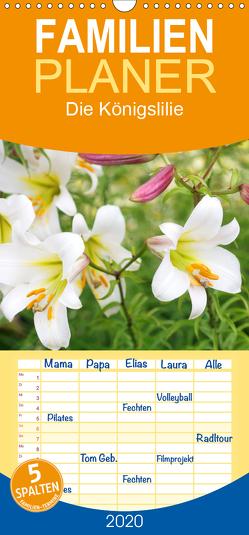 Die Königslilie – Familienplaner hoch (Wandkalender 2020 , 21 cm x 45 cm, hoch) von Kruse,  Gisela