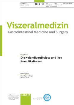 Die Kolondivertikulose und ihre Komplikationen von Kruis,  W., Meyer,  H.-J.