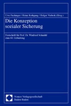 Die Konzeption sozialer Sicherung von Fachinger,  Uwe, Rothgang,  Heinz, Viebrok,  Holger