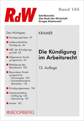 Die Kündigung im Arbeitsrecht von Krämer,  Karin