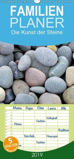 Die Kunst der Steine – Familienplaner hoch (Wandkalender 2019 , 21 cm x 45 cm, hoch) von Haafke,  Udo
