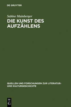 Die Kunst des Aufzählens von Mainberger,  Sabine