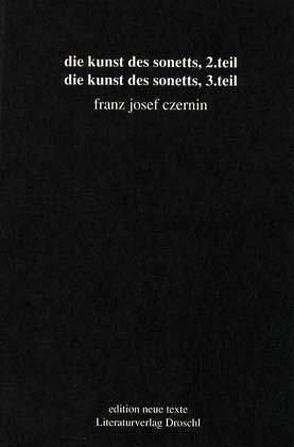 Die Kunst des Sonetts von Czernin,  Franz J