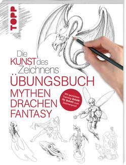 Die Kunst des Zeichnens – Mythen, Drachen, Fantasy Übungsbuch von frechverlag