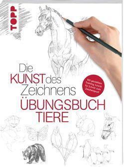 Die Kunst des Zeichnens – Tiere Übungsbuch von frechverlag