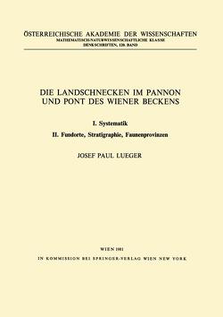 Die Landschnecken im Pannon und Pont des Wiener Beckens von Lueger,  J.P.