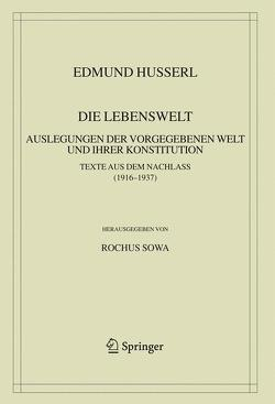 Die Lebenswelt von Husserl,  Edmund, Sowa,  Rochus