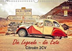 Die Legende – die Ente, Citroën 2CV (Wandkalender 2019 DIN A4 quer)