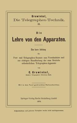 Die Lehre von den Apparaten von Grawinkel,  C.
