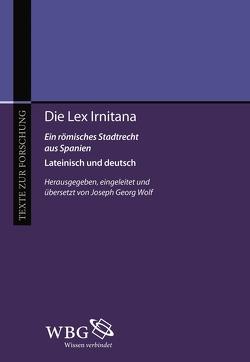Die Lex Irniterna von Wolf,  Joseph Georg