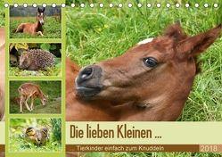 Die lieben Kleinen … Tierkinder einfach zum Knuddeln (Tischkalender 2018 DIN A5 quer) von GUGIGEI,  k.A.