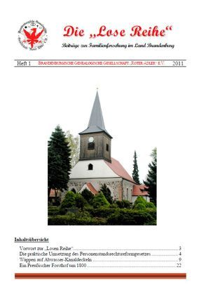 Die Lose Reihe, Heft 1 von Bornitz,  Ulrich, Richau,  Martin, Treutler,  Gerd Christian Th.