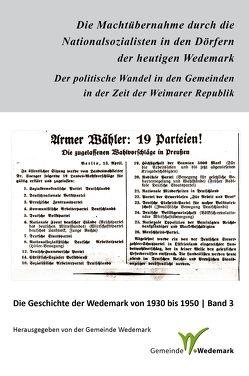 Die Machtübernahme durch die Nationalsozialisten in den Dörfern der heutigen Wedemark von Paehr,  Sabine