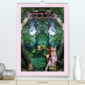 Die magische Welt der Engel und Elfen (Premium, hochwertiger DIN A2 Wandkalender 2021, Kunstdruck in Hochglanz) von Hubner,  Katharina
