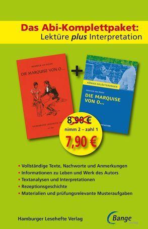 Die Marquise von O… –  Lektüre plus Interpretation: Königs Erläuterung + kostenlosem Hamburger Leseheft von Heinrich von Kleist. von Kleist, Heinrich von