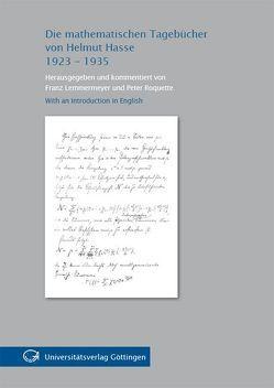 Die mathematischen Tagebücher von Helmut Hasse 1923-1935 von Lemmermeyer,  F., Roquette,  Peter