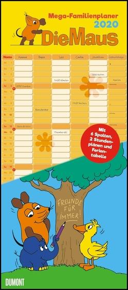 Die Maus 2020 – DUMONT Mega-Familienkalender mit 6 Spalten – Familienplaner mit 2 Stundenplänen und Ferientabelle – Hochformat 30,0 x 68,5 cm von DUMONT Kalenderverlag, Schmitt-Menzel,  Isolde, Streich,  Friedrich