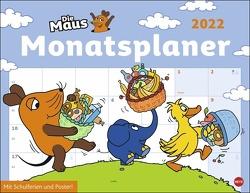 Die Maus Monatsplaner Kalender 2022 von Heye