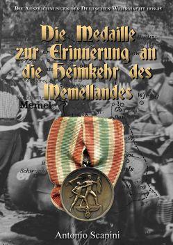 Die Medaille zur Erinnerung an die Heimkehr des Memellandes von Scapini,  Antonio