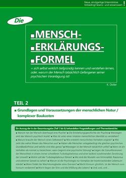 Die Mensch-Erklärungsformel (Teil 2) von Ostler,  K.