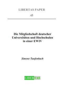 Die Mitgliedschaft deutscher Universitäten und Hochschulen in einer EWIV von Taufenbach,  Simone