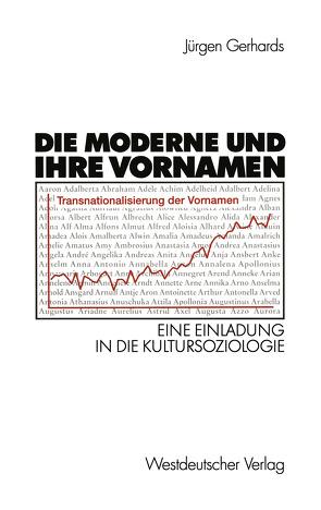 Die Moderne und ihre Vornamen von Gerhards,  Jürgen