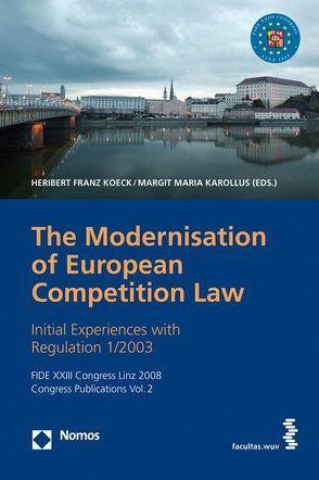 Die Modernisierung des EG-Kartellrechts von Karollus,  Margit M, Köck,  Heribert F
