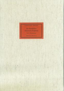 Die Musiklehre Alessandro Pogliettis von Prendl,  Christoph
