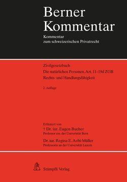 Die natürlichen Personen, Art.11-19d ZGB von Aebi-Müller,  Regina E, Bucher,  Eugen