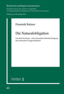 Die Naturalobligation von Balmer,  Dominik