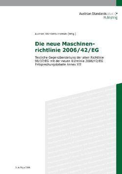 Die neue Maschinenrichtlinie 2006/42/EG
