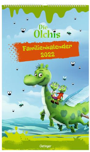 Die Olchis Familienkalender Unser olchiges Jahr 2022 von Dietl,  Erhard