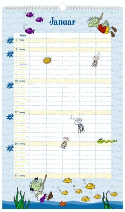 Die Olchis Unser Familienkalender 2021 von Dietl,  Erhard