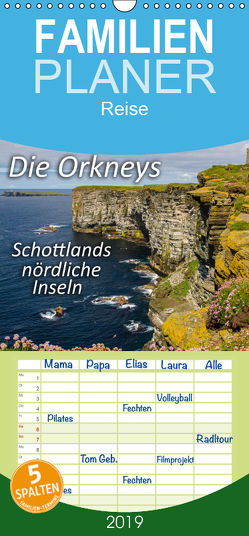 Die Orkneys – Schottlands nördliche Inseln – Familienplaner hoch (Wandkalender 2019 , 21 cm x 45 cm, hoch) von Uppena (GdT),  Leon