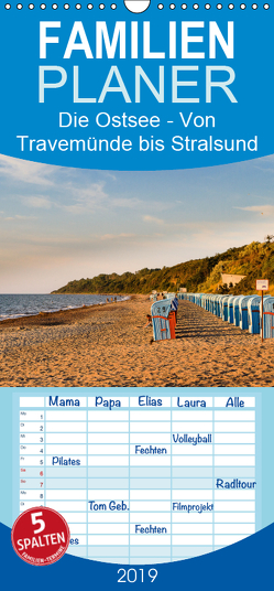 Die Ostsee – Von Travemünde bis Stralsund – Familienplaner hoch (Wandkalender 2019 , 21 cm x 45 cm, hoch) von Hellmann,  Eike, www.eh-photography.de
