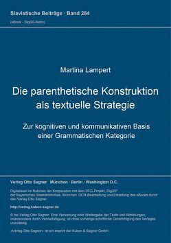 Die parenthetische Konstruktion als textuelle Strategie von Lampert,  Martina