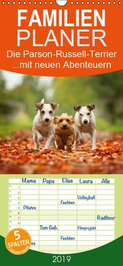 Die Parson-Russell-Terrier …mit neuen Abenteuern aus der Hundeknipserei – Familienplaner hoch (Wandkalender 2019 , 21 cm x 45 cm, hoch) von Köntopp,  Kathrin