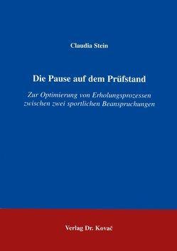 Die Pause auf dem Prüfstand von Stein,  Claudia
