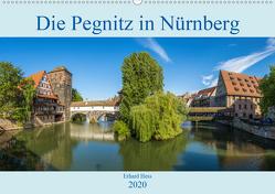 Die Pegnitz in Nürnberg (Wandkalender 2020 DIN A2 quer) von Hess,  Erhard, www.ehess.de