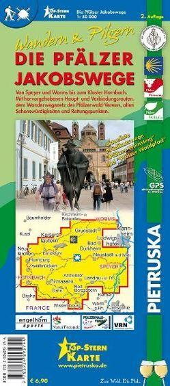 Die Pfälzer Jakobswege, Wandern & Pilgern 1 : 50.000