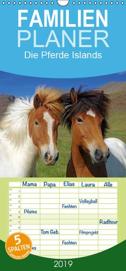 Die Pferde Islands – Familienplaner hoch (Wandkalender 2019 , 21 cm x 45 cm, hoch) von Pantke,  Reinhard